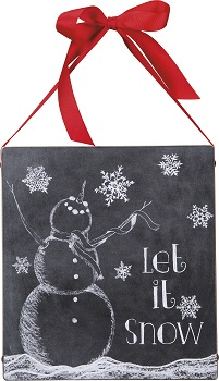 "Decorative Box Sign - ""Let It Snow... Box Sign"""