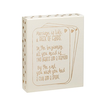"Decorative Box Sign - ""Marriage Is Like... Box Sign"""
