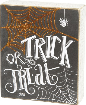 "Decorative Box Sign - ""Trick Or Treat... Box Sign"""