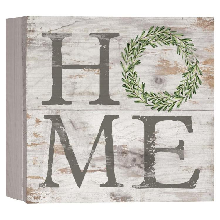 "Decorative Boxed Pallet Sign - ""Home"""