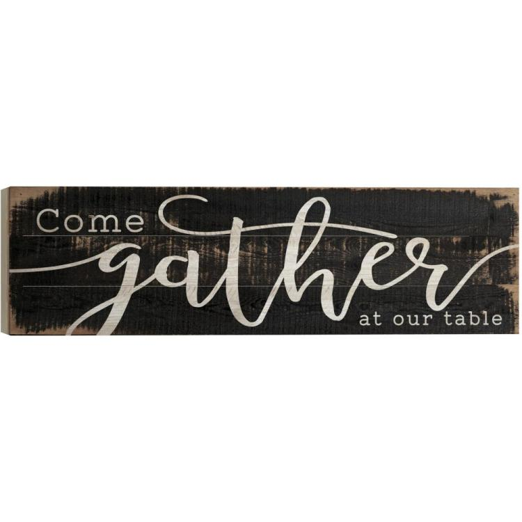 "Decorative Boxed Pallet Wall Sign - ""Come Gather At Our Table"""