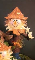 "Decorative Candle - ""Scarecrow Candlestick"""