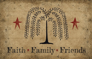 "Decorative Door Mat - ""Faith, Family & Friends"" - Original Crossroads Design"