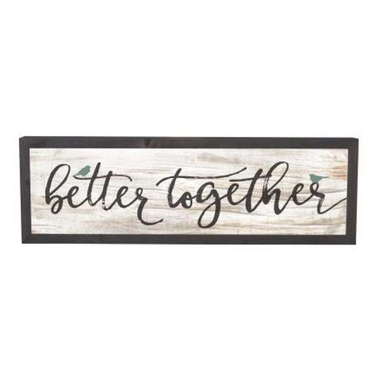 "Decorative Farmhouse Frame Wall Sign - ""Better Together"""