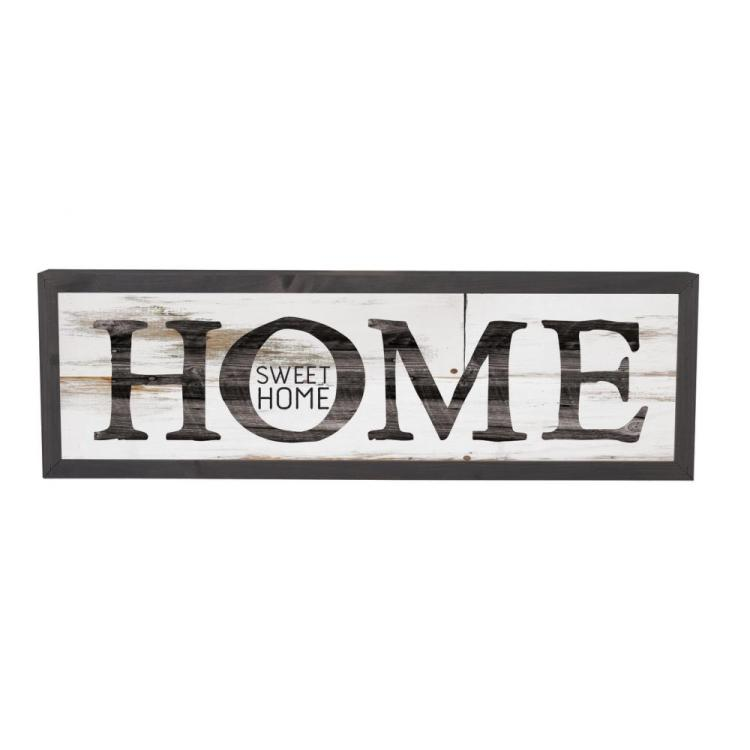 "Decorative Farmhouse Frame Wall Sign - ""Home Sweet Home"""