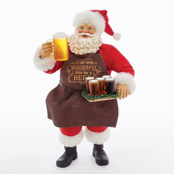 Beer Santa Figurine - It Is The Most Wonderful Time For A Beer
