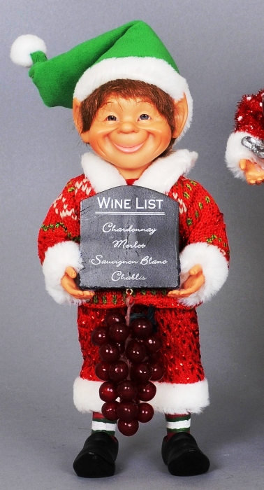 "Karen Didion Elf - ""Wine List Elf"""