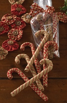 "Decorative Figurine - ""Fabric Candy Canes"""