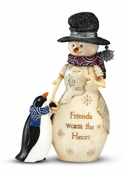 "Decorative Figurine - ""Friends Warm The Heart"""