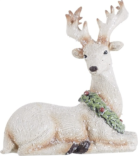 "Decorative Figurine - ""Laying Reindeer"""