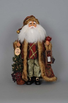 Karen Didion Santa - 19in - Lighted Wine Tree Santa