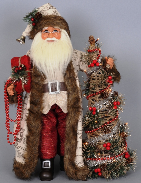 "Karen Didion Santa - ""Lighted Woodland Elegance Santa"""