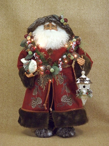 Karen Didion Santa - 20in - Lighted Woodland Santa