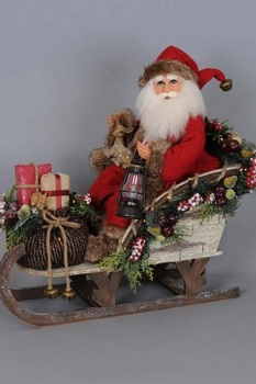 "Karen Didion Santa - ""Lighted Woodland Sled Santa"""