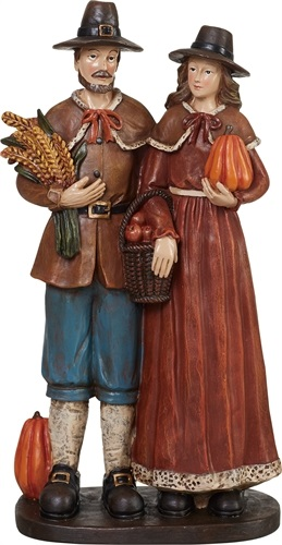 "Decorative Figurine - ""Pilgrim Couple Figurine"""