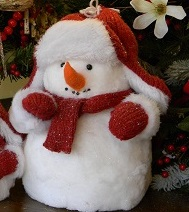 "Decorative Figurine - ""Red Cap Snowman"" - Large 11"""