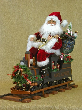 "Karen Didion Santa - ""Santa on Train Engine with Track"""