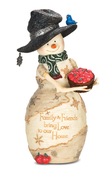 "Decorative Figurine - ""Snowman- Family & Friends Bring Love..."""