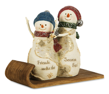 "Decorative Figurine - ""Snowmen - Friends Make The Season Fun"""