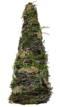 "Decorative Figurine - ""Twig Tree With Moss"" - 16"""