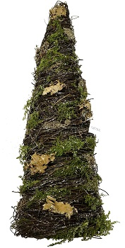 "Decorative Figurine - ""Twig Tree With Moss"" - 19"""