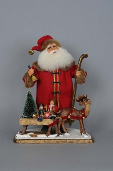 Karen Didion Santa - Limited Edition - Vintage Santa with Sled