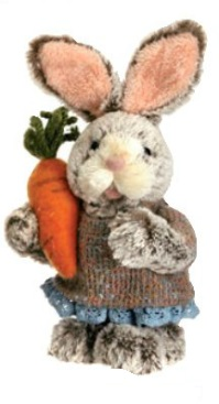 "Decorative Figurines - ""Bunny With Carrot"" - Girl - 11"""