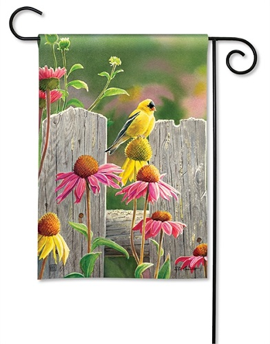 "Decorative Flag - ""Goldfinches & Coneflowers Garden Flag"""