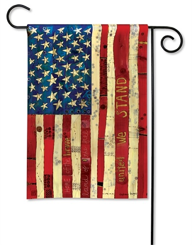 "Decorative Flag - ""Home Of The Brave Garden Flag"""