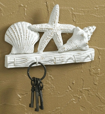 "Decorative Hook - ""Key Hooks With Shells"""