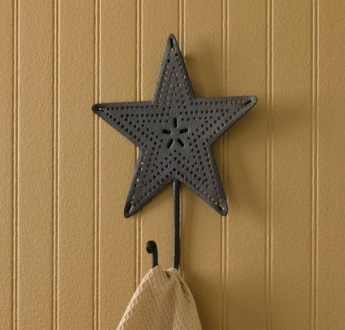 "Decorative Hook - ""Single Black Star Hook"""