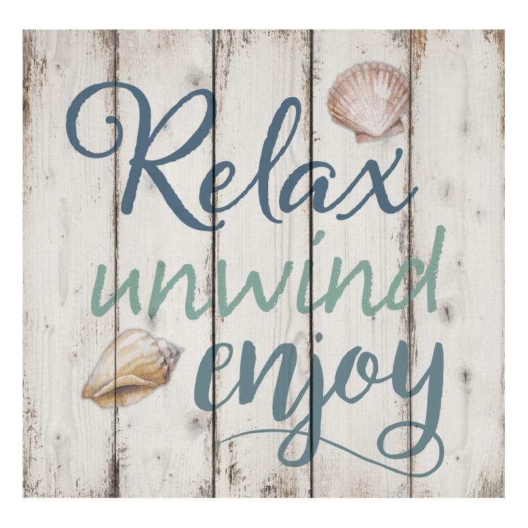 "Decorative Pallett Wall Sign - ""Relax Unwind Enjoy"""