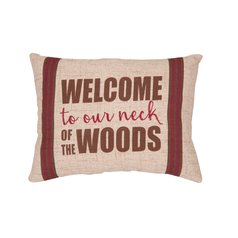Decorative Pillow - Our Neck of The Woods - 16in