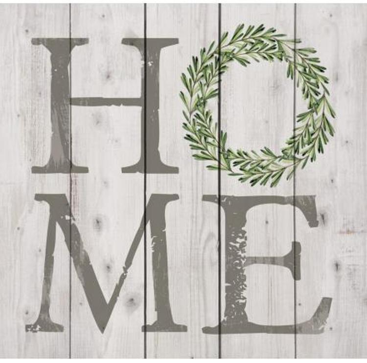 "Decorative Pine Pallet Wall Sign - ""Home"""