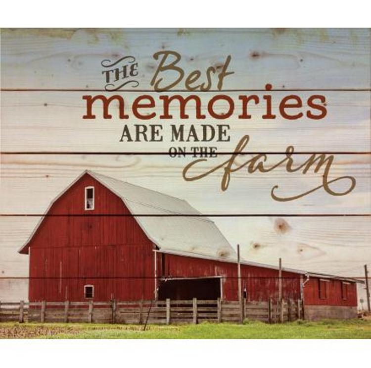 "Decorative Pine Pallet Wall Sign - ""The Best Memories"""