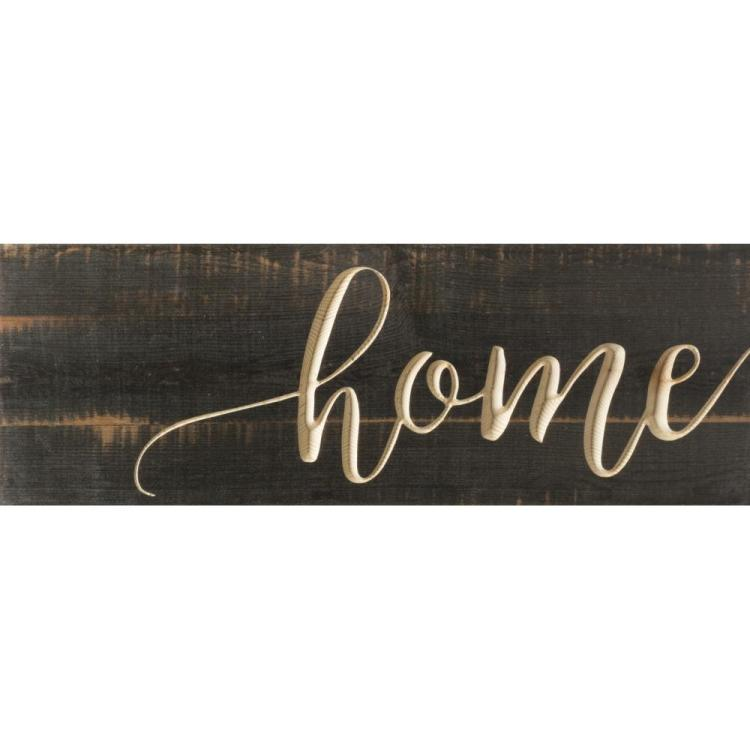 "Decorative Pine Plank Wall Sign - ""Home"""