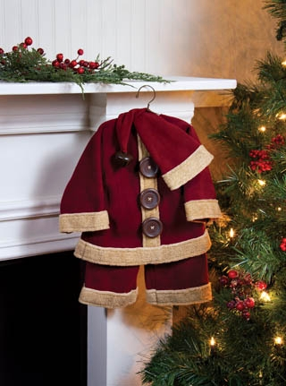 "Decorative Santa Suit - ""Big Button Santa Suit"""