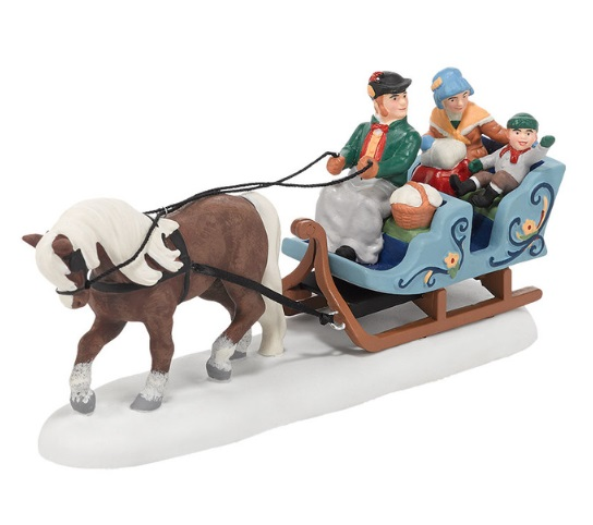 "Department 56 Alpine Village Accessory- ""Alpine Sleigh Ride"""
