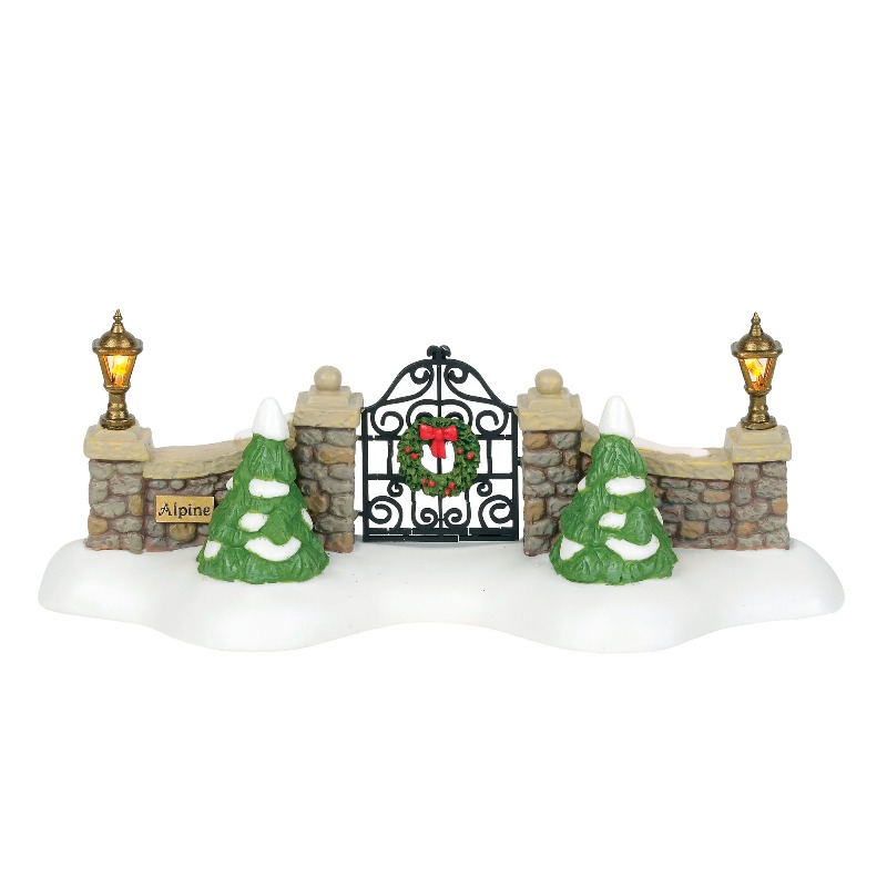 "Department 56 Alpine Village Accessory - ""Alpine Village Gate"" 2018"