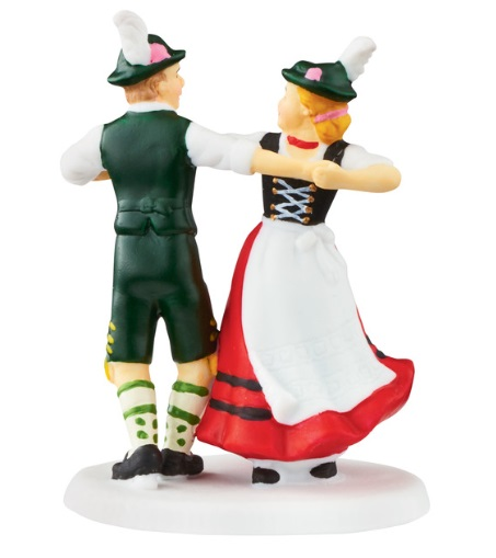 "Department 56 Alpine Village Accessory- ""Christmas Market Dance"""