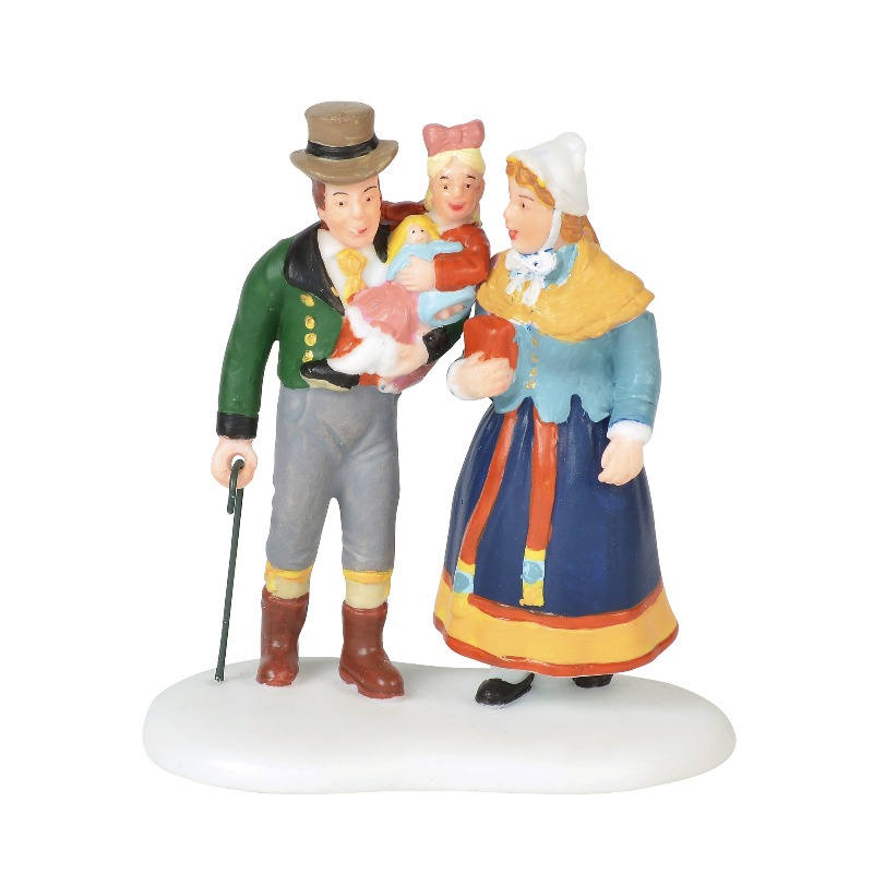 "Department 56 Alpine Village Accessory - ""Family Outing"" 2018"