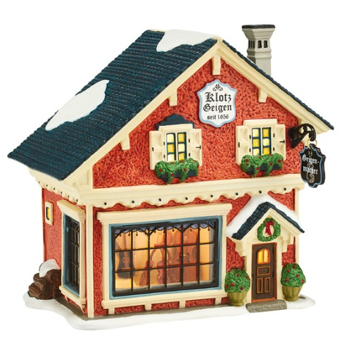 "Department 56 Alpine Village - ""Violin Maker"""