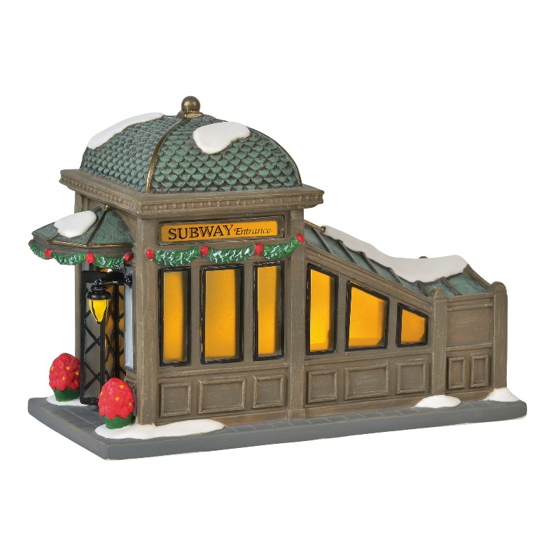"Department 56 Christmas in the City Accessory - ""56th Street Station"" 2018"