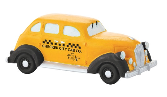 "Department 56 Christmas In The City Accessory - ""Checker City Cab"""