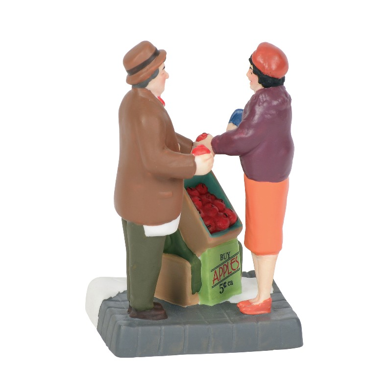 "Department 56 Christmas in the City Accessory - ""City Apple Vendor"" 2018"