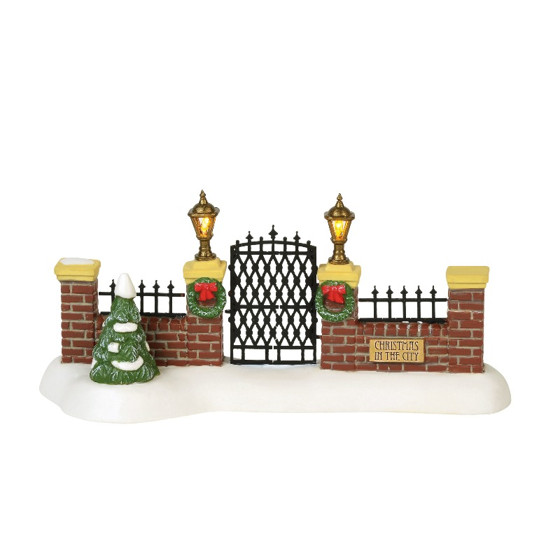 "Department 56 Christmas in the City Accessory - ""Village Gate"" 2018"