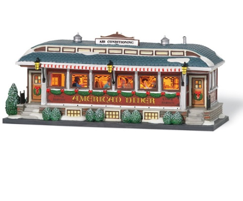 "Department 56 Christmas In The City  -  ""American Diner"""