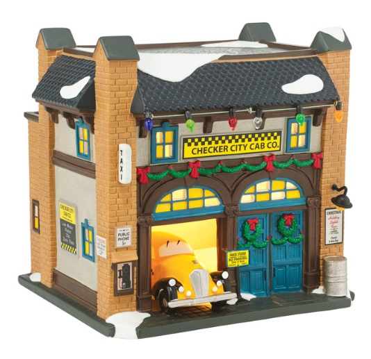 "Department 56 Christmas In The City - ""Checker City Cab Co."""