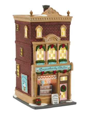 "Department 56 Christmas In The City - ""Cupcakes By Bella"""