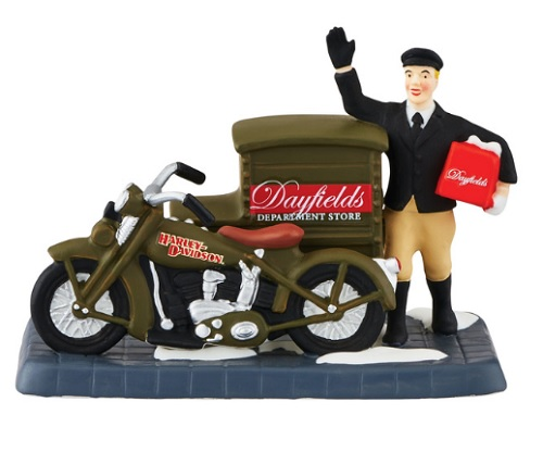 """Department 56 Christmas In The City - """"Harley Delivers Christmas"""""""